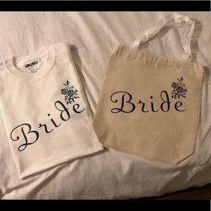 Bride and Bridesmaids shirts and totes